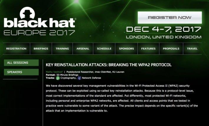 專門討論入侵與保安技術的歐洲黑帽子大會將會就這次發現的漏洞進行簡介會