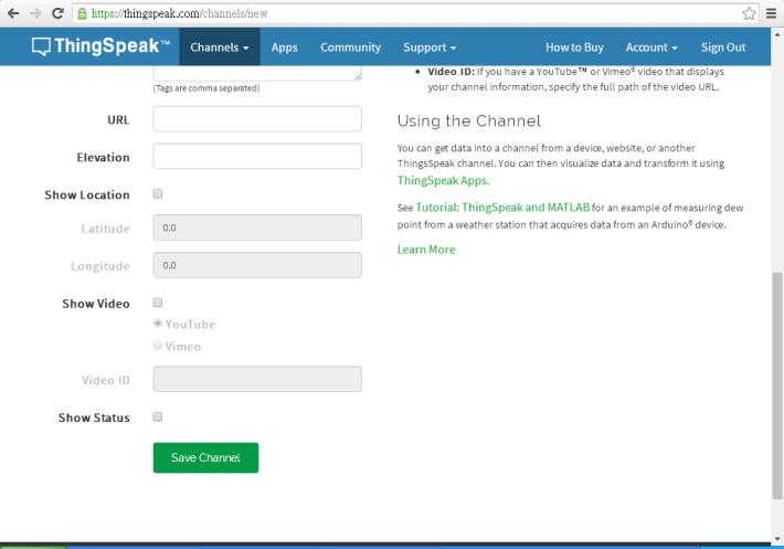 Step 4:視乎所需填寫餘下的資料,若不需輸入,可於底部的地方按下「 Save Channel 」。