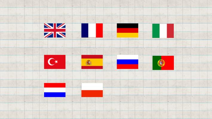 App 可顯示多國語言。