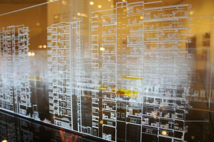 在「建築、室內、空間及環境設計」區域內竹旳展品。