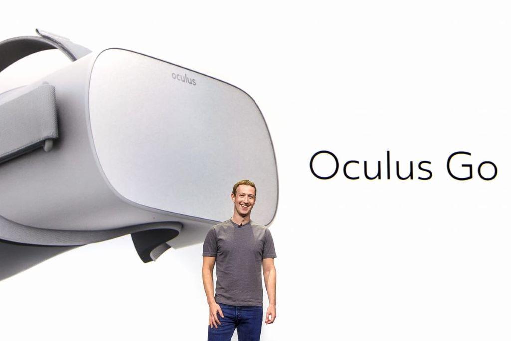 Facebook CEO 朱克伯格在 2017 年 F8 大會中宣布推出一體型 VR 裝置 Oculus Go ,並於 2018 年正式推出市場。