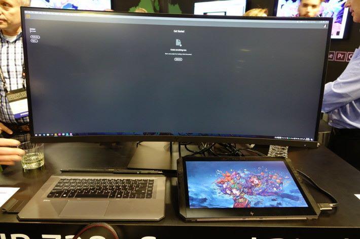 可通過 Thunderbolt 3 連接多部 4K 屏幕