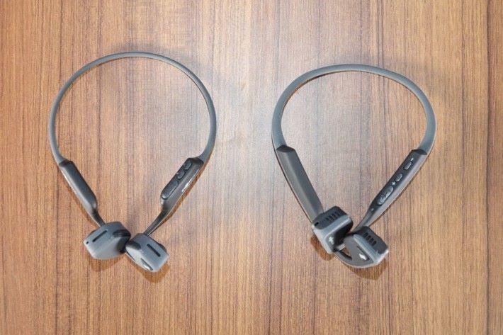 (左) TREKZ Air 外框比上一代 (右) TREKZ Mini 要幼身
