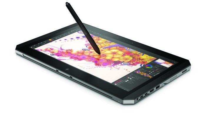 專用的繪圖筆,是由 HP與Wacom共同合作開發,具備目前最高4096級壓力感應。