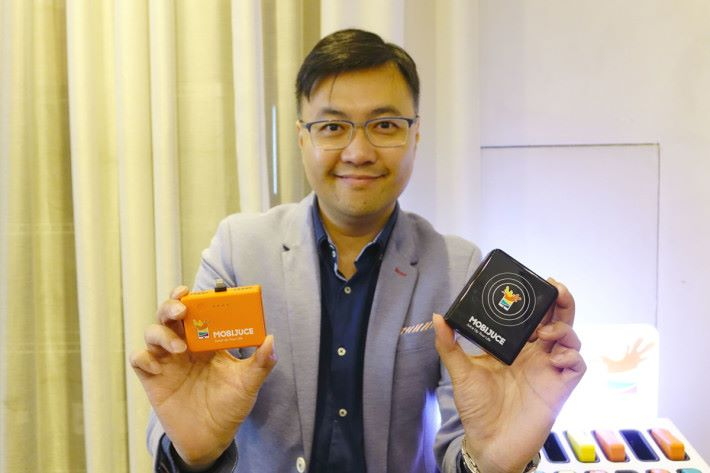 MobiJuce 的營運及市場總監 Joseph Yuen 為我們作介紹及示範。