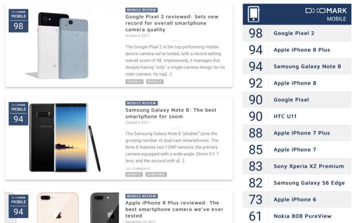 Pixel 2 一出現,iPhone 8 Plus 與 Galaxy Note8 同聲一哭,要退位讓賢。