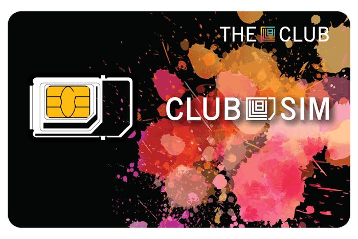 Club SIM 以免費 SIM 卡作招徠。