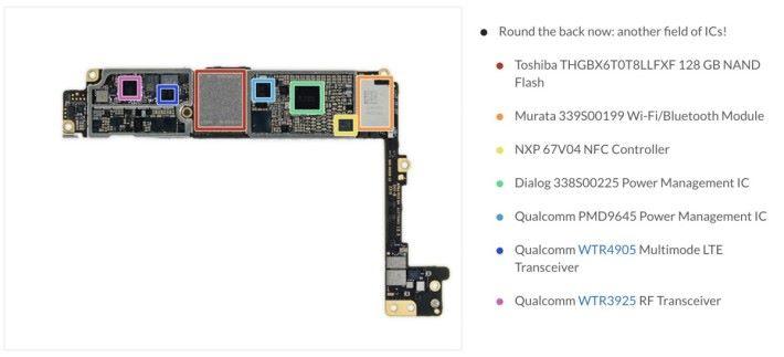 iPhone 7 Plus 仍有使用 Qualcomm 的處理器,但到了 iPhone 8 Plus 已經減少了。