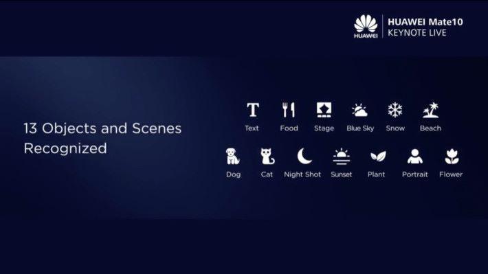 人工智能能實時辨別 13 種拍攝主體,進行準確的影像處理。