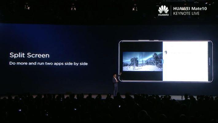 EMUI 8.0 配上 Android 8.0 Oreo,可以在手機上進行畫面分割。