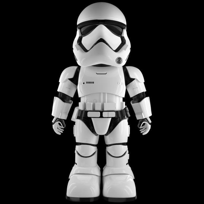 以Q版造型設計的 Stormtrooper 智能機械人