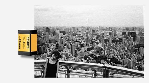 使用黑白「菲林」所拍出來的相片效果。