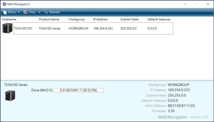 用 Buffalo NAS Navigator 來尋找 NAS IP 位址。