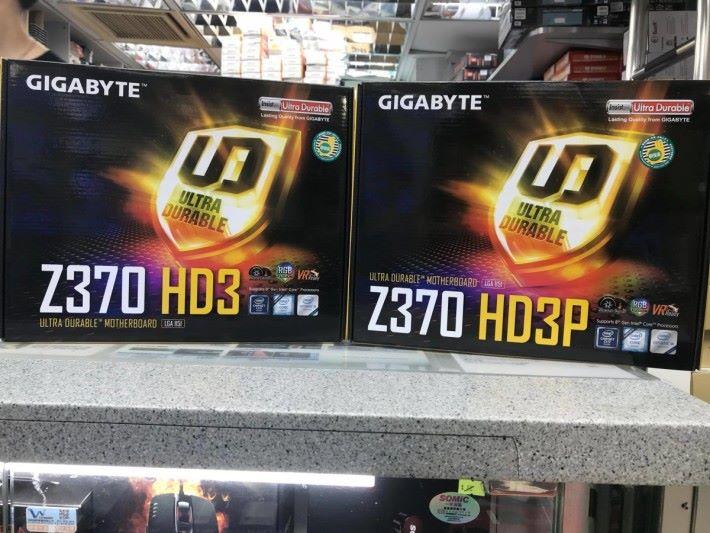 Gigabyte Z370 HD3 及 HD3P 已到貨。Source:Comdex