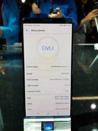 運行 Android 8.0 Oreo 系統及 EMUI 8.0 介面