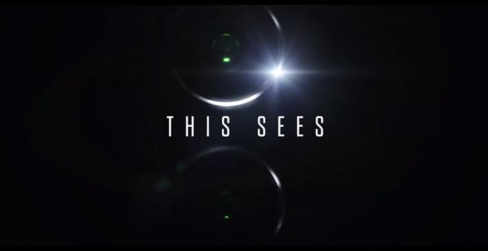 片段中可見 Mate 10 應會配備雙鏡頭,而且是垂直排列。