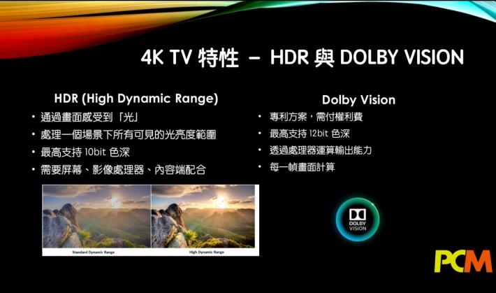 .今年新推出的4K 電視都以支援 HDR 作主打,不過 HDR 包括的影像內容要求電視機對比度有更高水平,需要較高級電視機才有好的效果。
