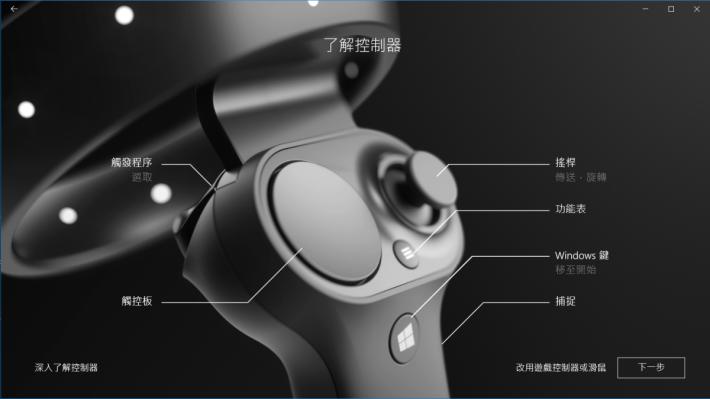 控制器上各個按鈕的功用。