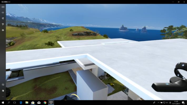 飛了上屋頂,感覺有點畏高,像真度太高了吧。