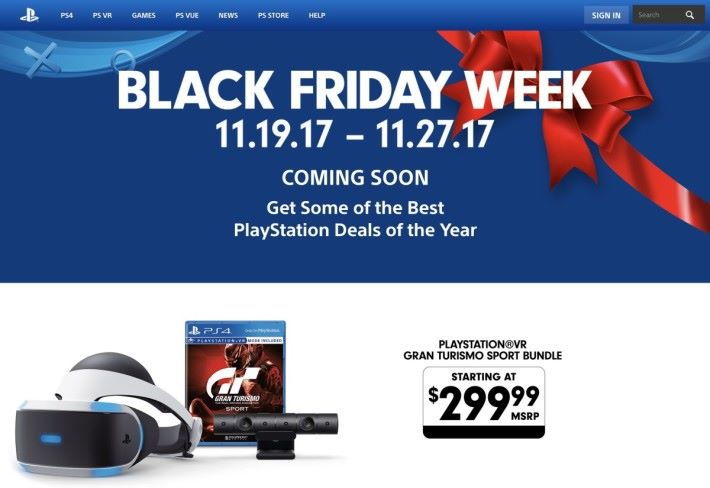 PlayStation 在美國 Black Friday 期間推出減 US$100 的優惠