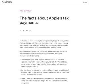 Apple 發表聲明反駁 ICIJ 的報道