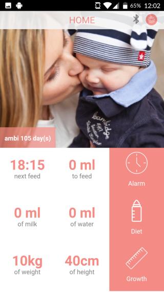 程式記錄嬰兒的食量,可給醫生和營養師參考。
