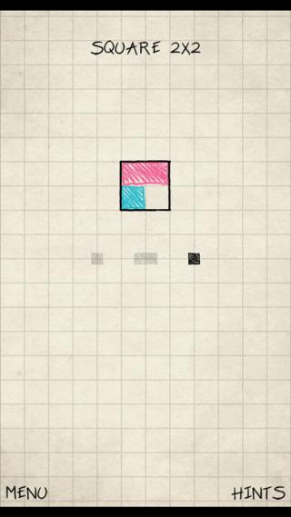 遊戲要求玩家拼砌指定圖形。