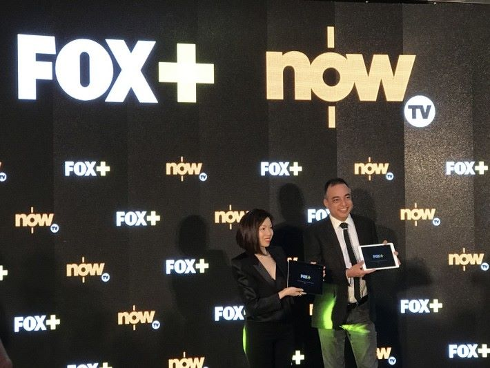 福斯傳媒集團亞太暨中東區總裁 Mr. Zubin Gandevia ,以及電訊盈科媒體集團董事總經理李凱怡小姐,齊齊啟動《 FOX+ 》App。