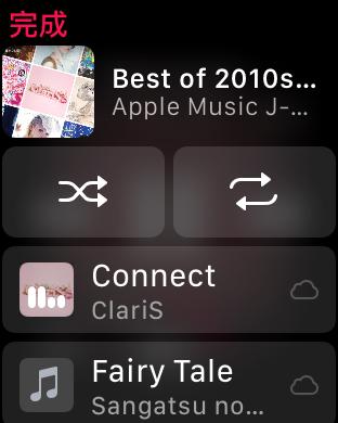 串流歌單時還可以在錶上看到歌單的內容和選聽歌曲,旁邊的雲代表是串流。當然也可以下載離線收聽。