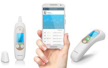 Motorola 嬰兒探溫器 將數據實時記錄到手機