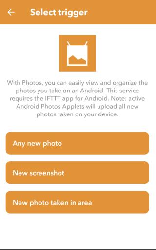 可以在 If That 選擇 Android 裝置的「所有新照片」。