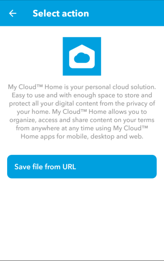 然後 If That 就選擇儲存在 My Cloud Home 中。