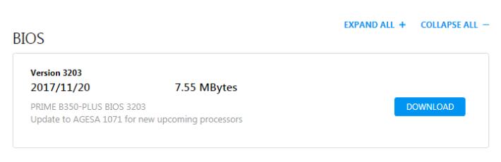 ASUS 在多款 AM4 Socket 主機板推出 AGESA BIOS 更新。