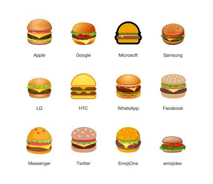 Google 修正前芝士漢堡 Emoji。