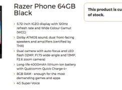 手機都有 THX音效 電競手機 Razer Phone 規格曝光