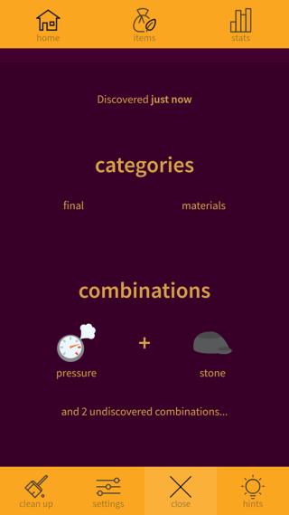 成功合成的物質會有詳細資訊。