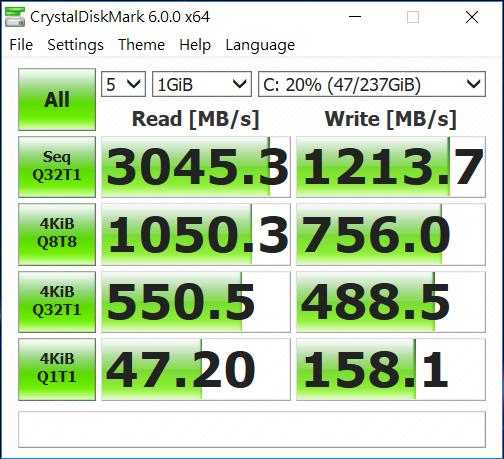 SSD 的讀取以及寫入速度標青,進入遊戲速度極快。