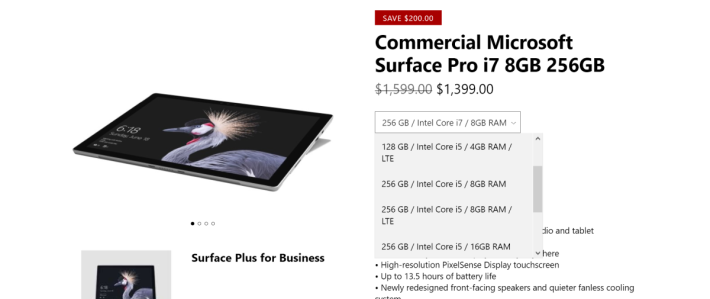 Surface Pro LTE 版本正式開售