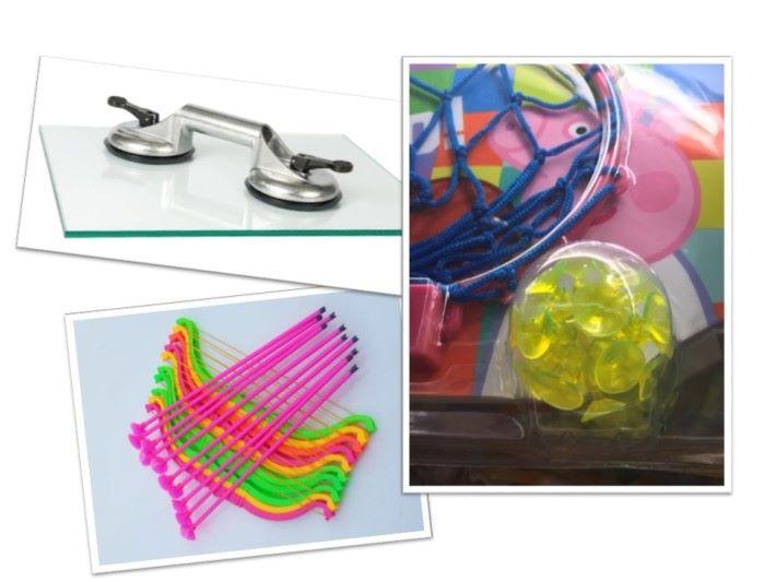 市面上有很多玩具都運用了吸盤原理,例如玩具吸盤弓箭、吸盤棒球等。在日常生活中,搬運玻璃的工人亦會使用吸盤來把一大片的玻璃進行搬運。