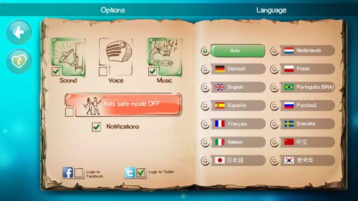 遊戲有多國語言選擇。