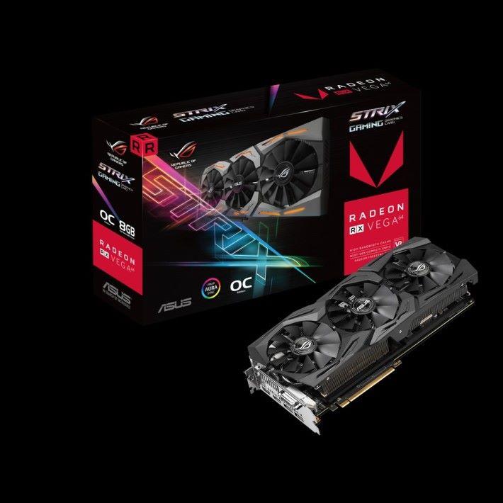 ASUS ROG STRIX RX Vega 64 O8G Gaming 包裝盒。
