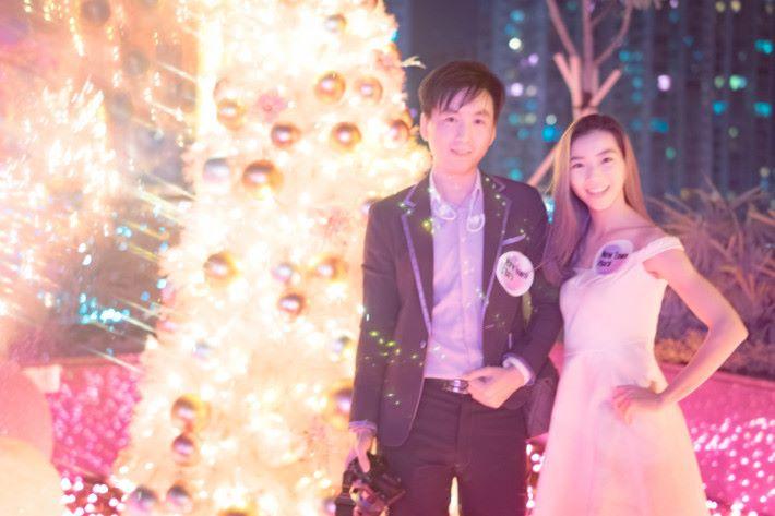 香港紅外線攝影會( IRHK )創立人之一 Steven Wu 與模特兒合照。