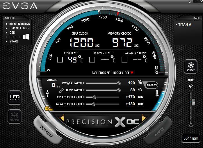 EVGA Precision 超頻軟件可對應 TITAN V。