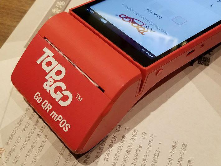 mPOS 可為商戶及客戶打印出收據以作記錄。