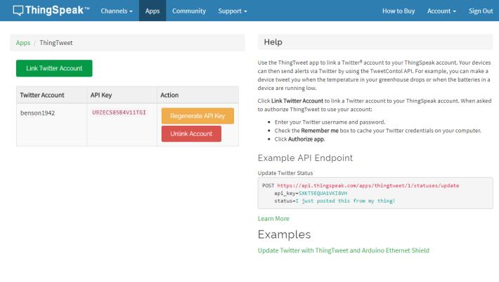 Step 2 : 輸入 Twitter 帳戶資料後,會出現相關帳號的畫面。