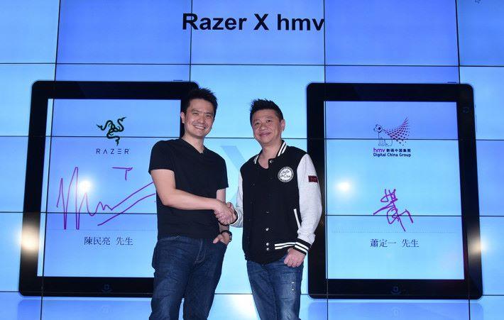 hmv 數碼中國集團主席蕭定一宣布,hmv 數碼中國集團與Razer建立策略合作關係,於銅鑼灣旗艦店將設立 Razer Corner,展示各種 Razer 最新產品及資訊。