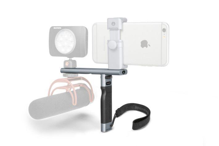智能手機拍攝手柄及底座組合。