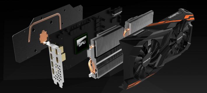 顯示卡內部結構,採用 12+1相供電設計及需要 2 個 8-Pin 供電接口。