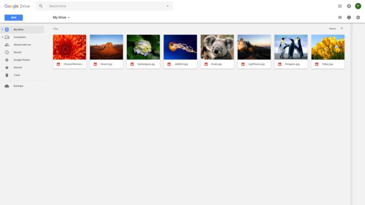 圖中是 Google Drive 帳戶的檔案,在啟用功能後才上載到 Google Drive。