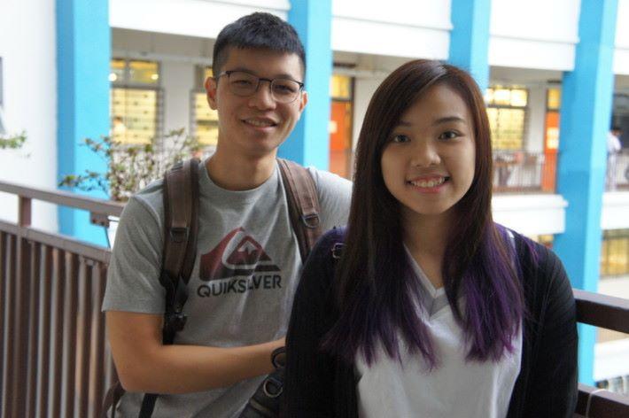香港學生電競聯會主席梁雅姿(右)及副主席秦逸朗(左)多年前已開始籌辦各類電競活動,日後也期望能繼續從事相關工作。
